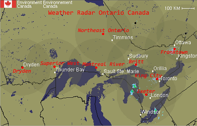 Weather Map Ontario Weather Map Ontario | Metro Map